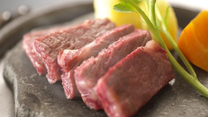 【国産牛霜降りステーキプラン】夕食メインが1人前200gのステーキ!グレードアップの山河会席料理