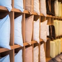 ♪選べる8種類の枕