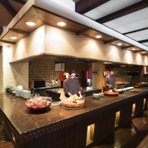 本館2階食事処漣亭 オープンキッチン