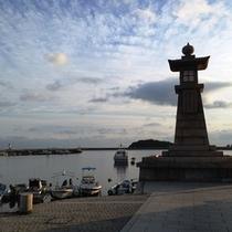 鞆の浦のランドマーク的存在「常夜灯」