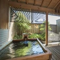 庭園露天風呂付客室(檜一例) ※眺望は海ではございません
