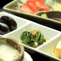 夕食-ざる豆腐、さしみ&湯葉刺し