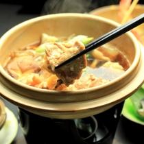 夕食-地鶏のすき焼き【リーズナブル】
