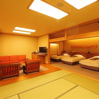 特別室(8畳+トリプル+リビング)【禁煙室】(82平米)