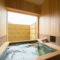 温泉風呂付6畳+ツインの部屋風呂