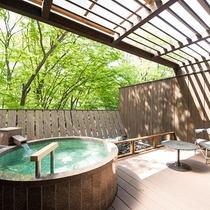 露天風呂付デラックスツインルーム【332号室】の部屋風呂