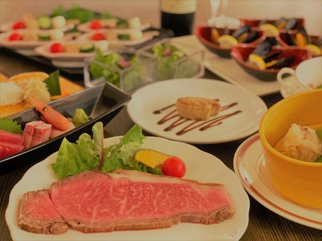 夕食ビュッフェ一例