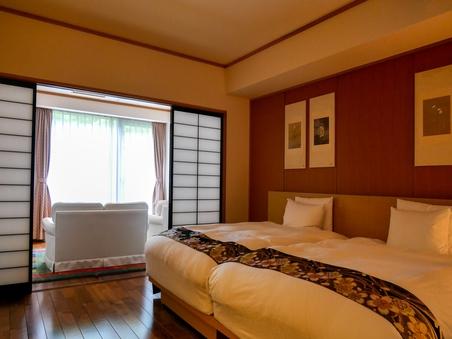 お鷹棟洋室(60平米:洋室+リビング+ベッド付)