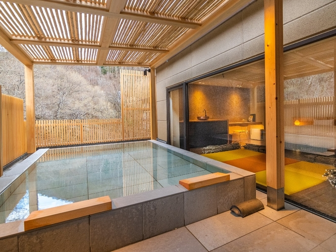 然シリーズー熊野20㎡のテラスに露天風呂