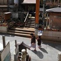 渋温泉の街並み