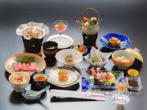 旬の食材を贅沢に用いた、創作会席(一例)