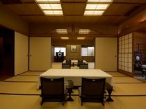 貴賓室和室は18帖、15帖、8帖の3室をご用意。趣と贅をつくした空間です。