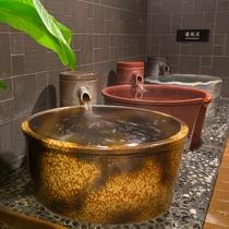 <天然温泉 華楽(かぐら)の湯>壺風呂 温泉独り占め!ゆっくりとご入浴ください。