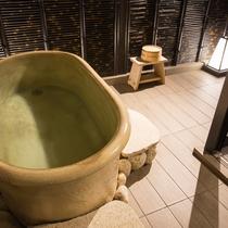 <家族風呂(貸切風呂)>家族風呂は館内に3部屋ございます。※ご予約はフロントにて承ります。