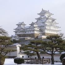 <姫路城 三十六景>四季:冬 西の丸から  ※提供 姫路市