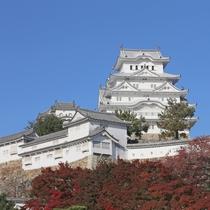 <姫路城 三十六景>四季:秋 姫路城と紅葉 当ホテルより車で約10分です。  ※提供 姫路市