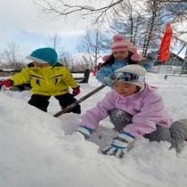 冬のアクティビティ 【雪遊び】