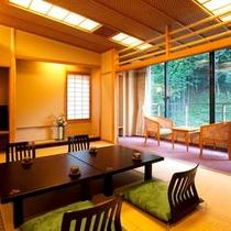 【別館】FU-IN☆Wi-Fi☆中庭を横目に赤目渓谷の木々を近くに感じるお部屋です。