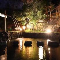夜の忍者修行の池。
