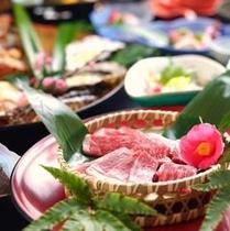 名物☆伊賀牛と海鮮のあみ焼き料理。
