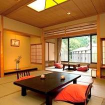 【新館】KOMOREBI☆Wi-Fi☆中庭と赤目渓谷を見渡せるお部屋です。
