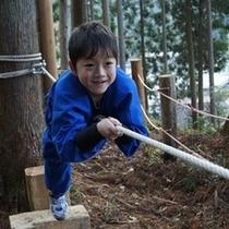 忍者の森の修行のひとつ。侵入術。