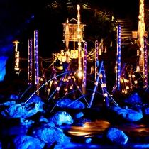 ●赤目四十八滝☆幽玄の竹灯☆当館目の前から竹灯が灯り、幻想的な世界♪