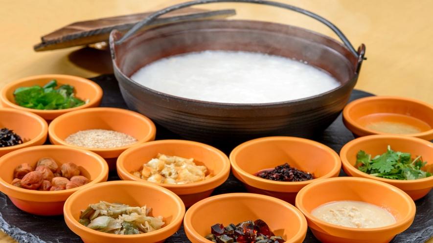 中華粥で優しい朝をお迎えください