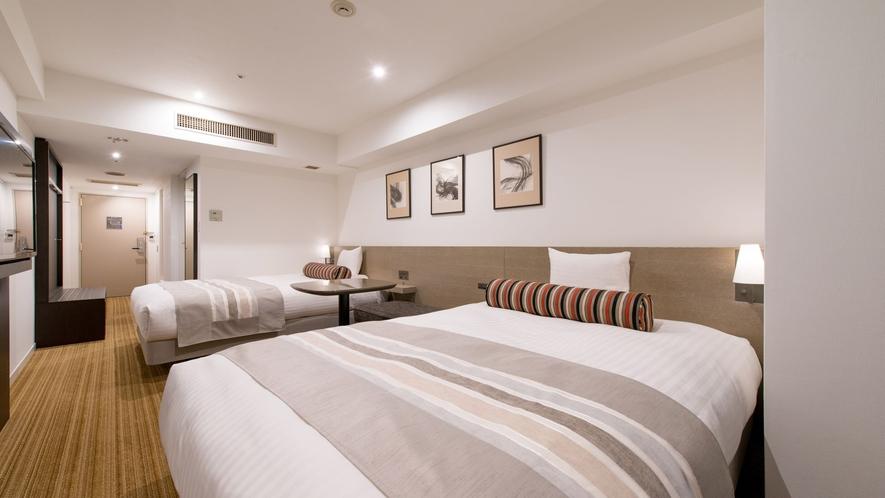 スーペリアツインよりもベッド幅が広めなので、ご家族でのご利用におすすめです