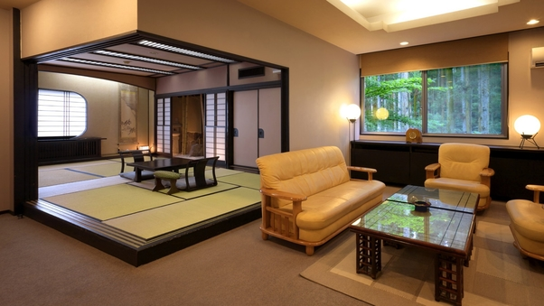 【喫煙×特別室】 和室十畳+ツインルーム+リビングルーム