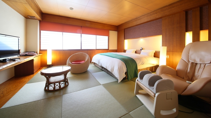 【贅沢一人旅】マッサージチェア付き 和の雰囲気が心地良い人気のお部屋   【無料貸切露天風呂】