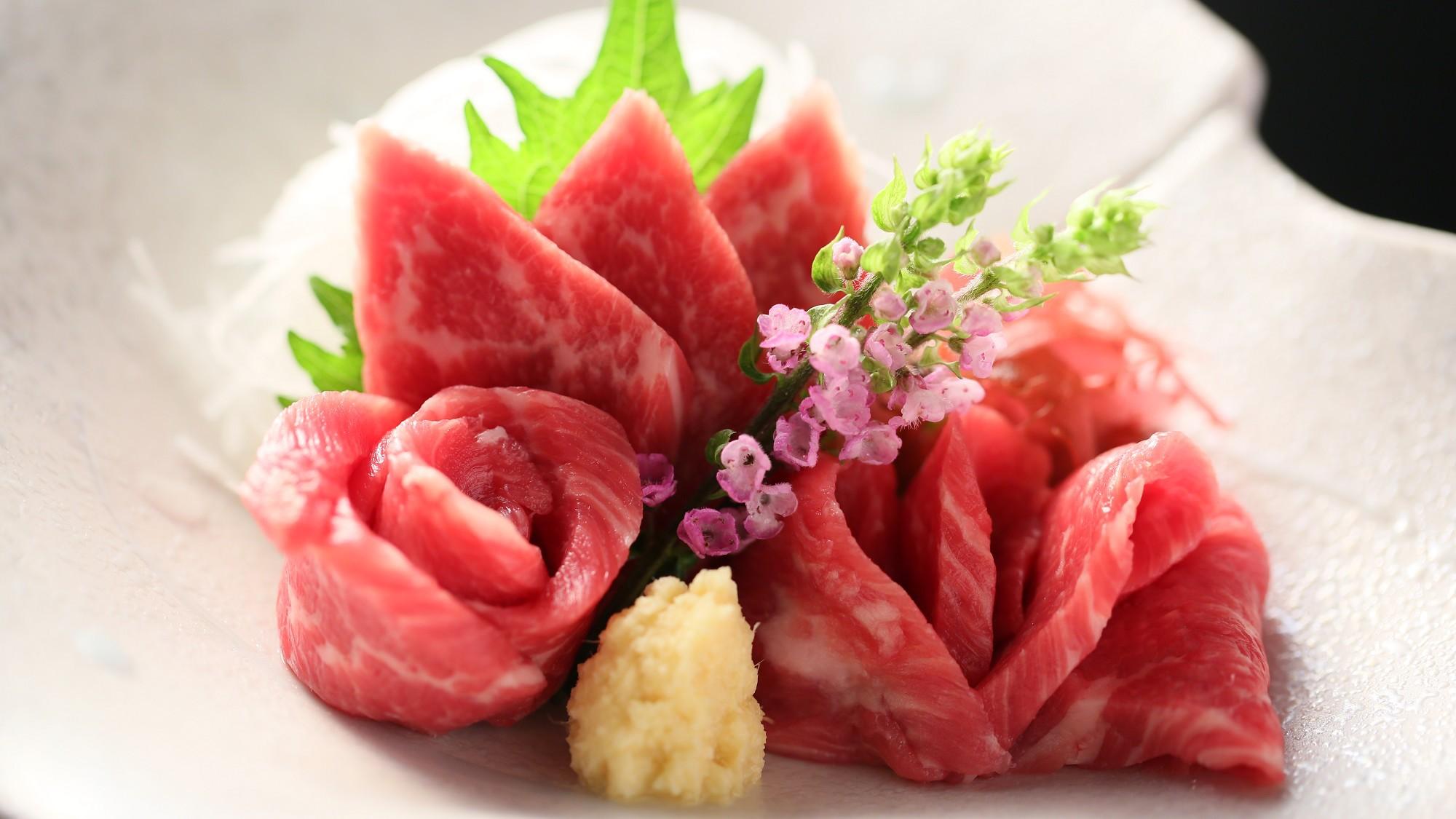 ■一品料理「信州名物 馬刺し」