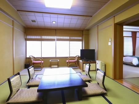 【和室10畳+ツインベッドルーム】3階和洋室 ■禁煙2〜6名