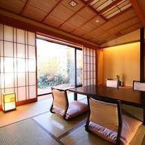 ■バリアフリー【露天風呂付客室】和室10畳