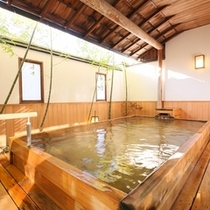 □男性露天風呂