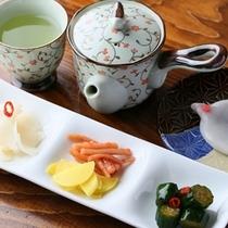 ◆つけもの喫茶「おしんこ餅セット」