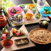 ■料理_信州プレミアムコース_初夏の一例。信州の味覚いいとこ取りのコースです。