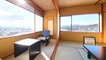 【半露天風呂付き眺望室】最上階10畳室内階段あり【禁煙】2~4名