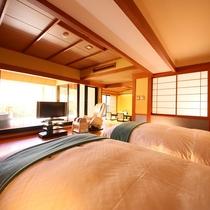 ◇【バリアフリー露天風呂付和室10畳+ツインR】