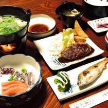 *【夕食一例】家庭的な料理でボリューム満点と好評