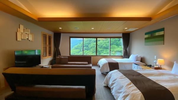 【渓流側】本館10階157特別室◆洋室2間 84平米