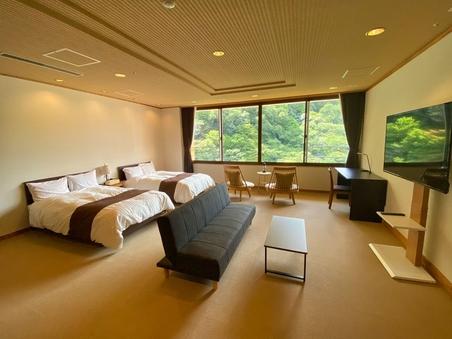 【広々テラス付源泉内風呂】別館最上階801特別室◆洋室2間