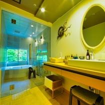 7階特別室の洗面・脱衣所