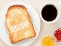 朝食用のトースト