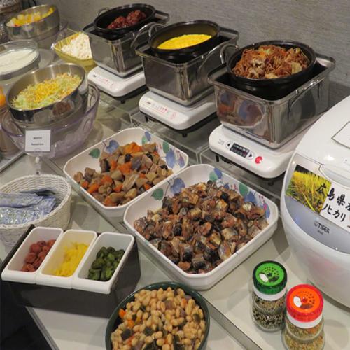 朝食は毎朝日替りメニューで提供しております!