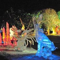 【東川町氷祭り】幻想的な氷像が見る者を楽しませる!