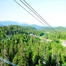 夏の旭岳ロープウェイ