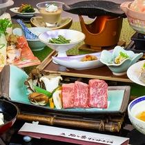 秋田の山の幸が満載のお食事