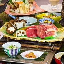 3種のお肉陶板焼き夕食イメージ
