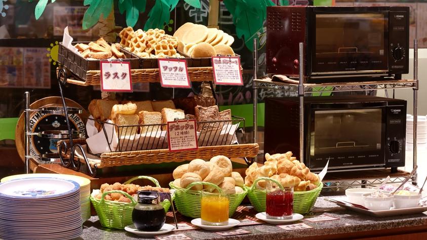 朝食バイキングの『パンコーナー』